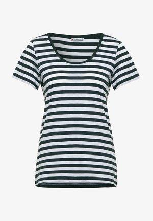 IM STREIFEN - Print T-shirt - grün