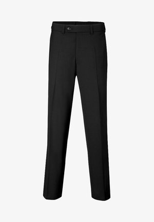 JAN  HERRENHOSE FLATFRONT - Suit trousers - black