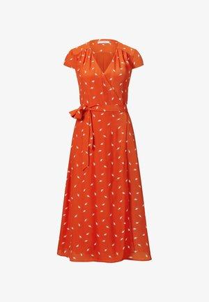 Day dress - mini leaf mandarine red