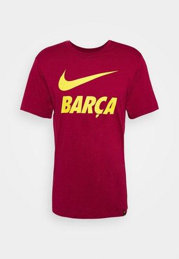 FC BARCELONA TEE GROUND - Funktionströja - noble red