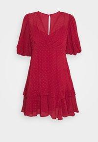 Forever New - MONIQUE BLOUSON SLEEVE MINI DRESS - Day dress - red - 0