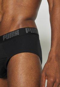 Puma - BASIC BRIEF 2 PACK - Slip - black - 3