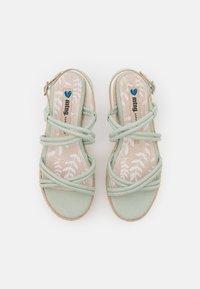 mtng - AMELIE - Sandály na platformě - menta - 5