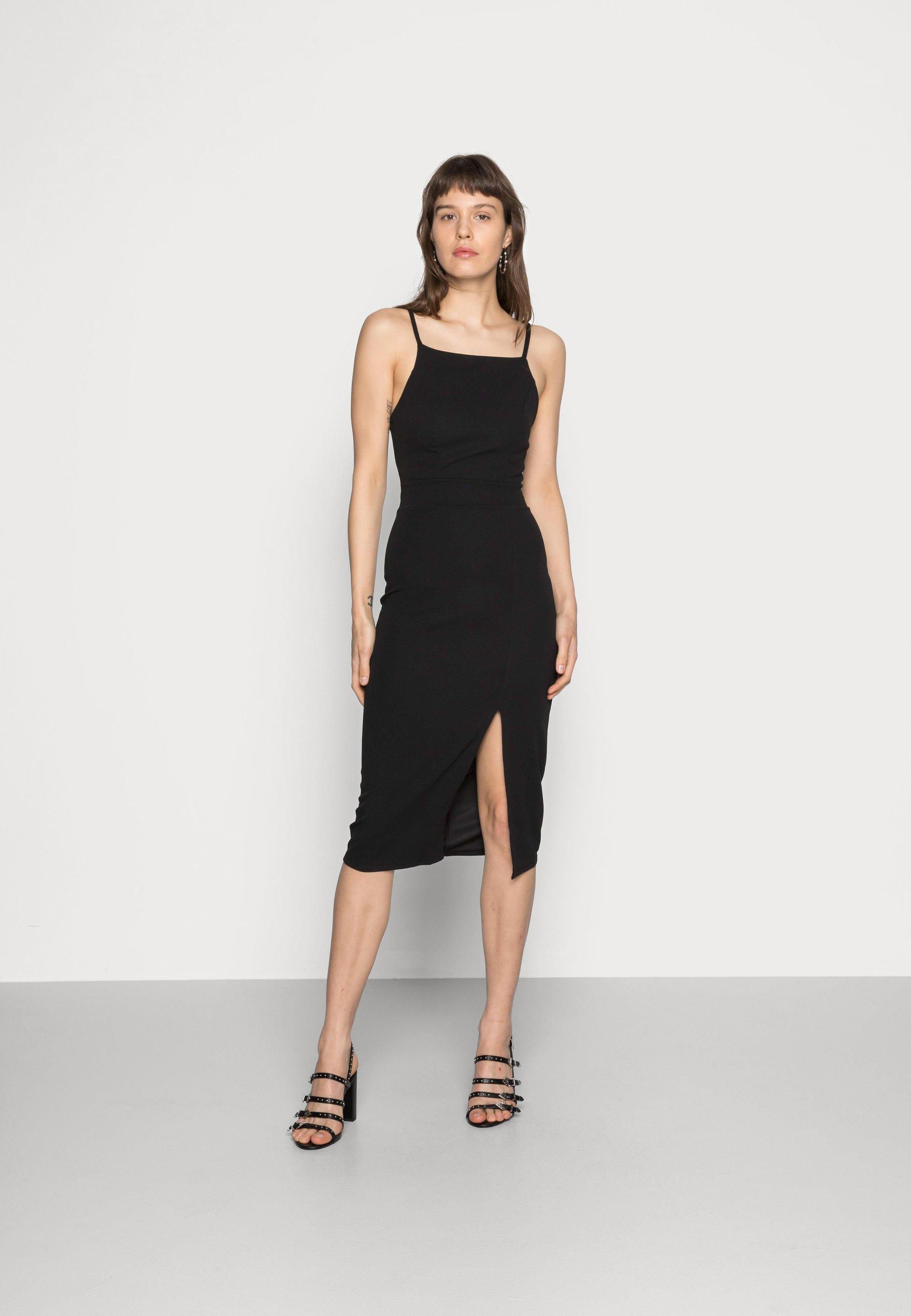 Mujer STRAPPY SQUARE NECK MIDI DRESS - Vestido de tubo