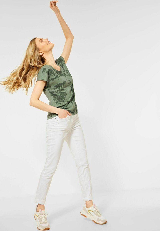 T-shirt med print - grün