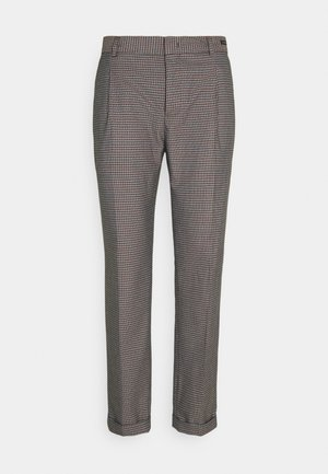 BLAKE CLASSIC PLEATED STRUCTURED - Pantaloni - dark brown