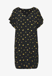 Madewell - RUFFLE SLEEVE EASY DRESS IN - Kjole - marguerite daisy/true black - 3