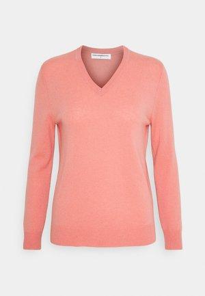 V NECK - Pullover - dust pink