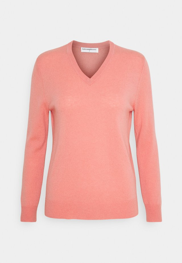 V NECK - Trui - dust pink