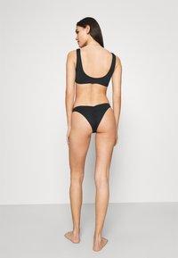 Cotton On Body - SQAURE NECK CROP GATHERED BRAZILIAN SET - Bikini - black - 2