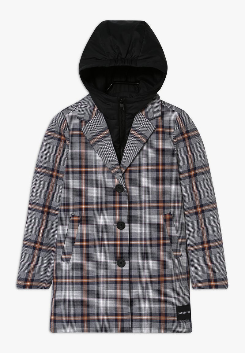 Calvin Klein Jeans - TAILORED CHECK COAT - Winter coat - grey