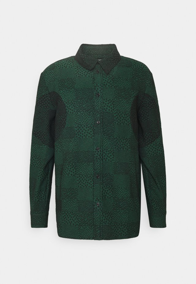 DOUBLE MIRROR SHOWERTILES - Hemd - black / dark green