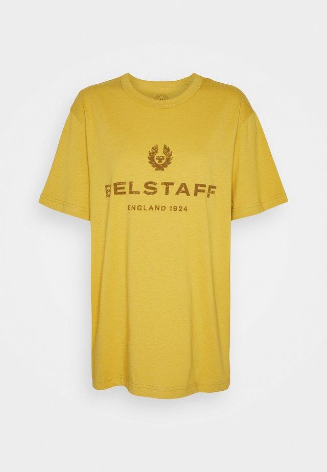 DISTRESSED - T-shirt print - harvest gold/sienna