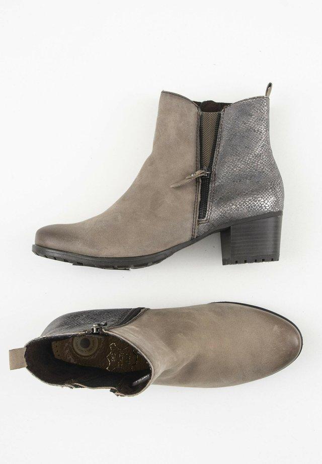 Korte laarzen - beige/silver