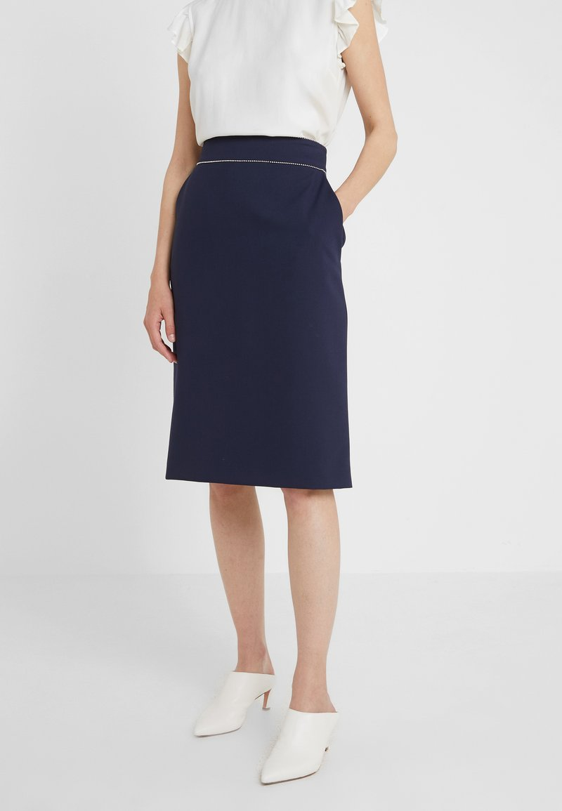 HUGO - RINDIA - A-line skirt - open blue