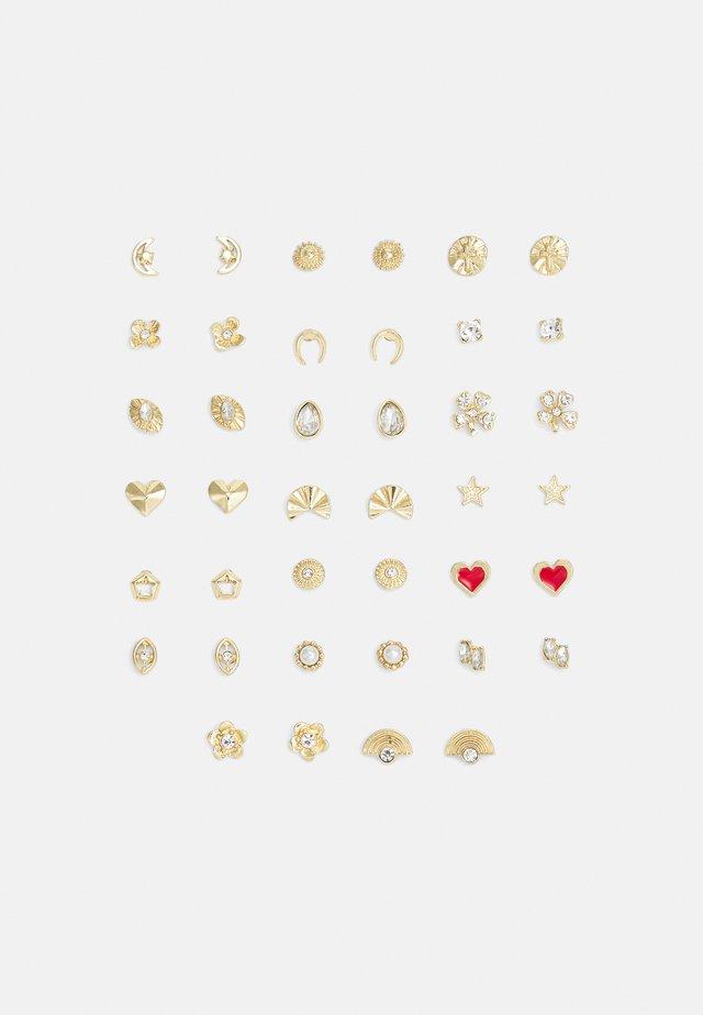 PCALFRIDA EARSTUDS 20 PACK - Kolczyki - gold-coloured