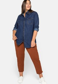 Sheego - Button-down blouse - blue denim - 1