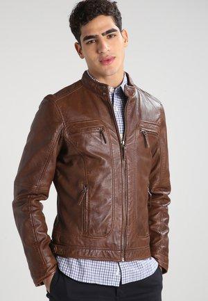 CASEY  - Leather jacket - cognac