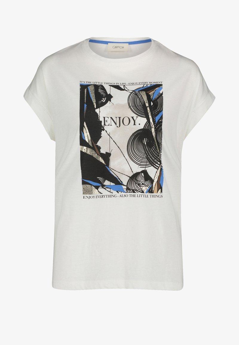 Cartoon - Print T-shirt - weiß/grau