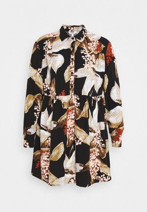 OBJLILITI SHORT DRESS - Shirt dress - black