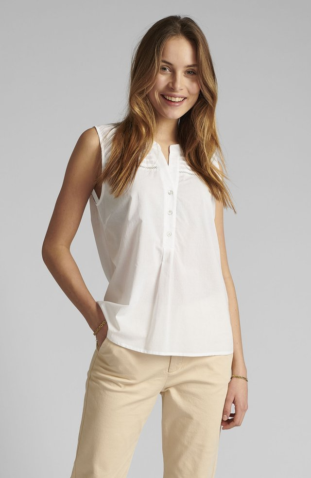 NUCINDY - Blouse - bright white