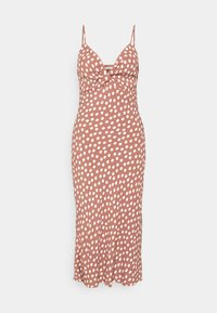 Abercrombie & Fitch - WIDE STRAP SLIP MIDI DRESS - Sukienka letnia - rust - 6