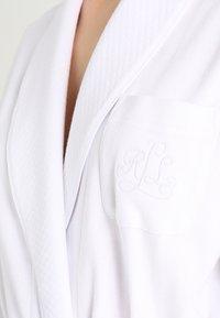 Lauren Ralph Lauren - ESSENTIALS COLLAR ROBE - Dressing gown - white - 3