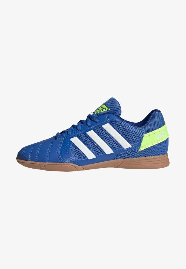 TOP SALA UNISEX - Indoor football boots - globlue/white/royalblue