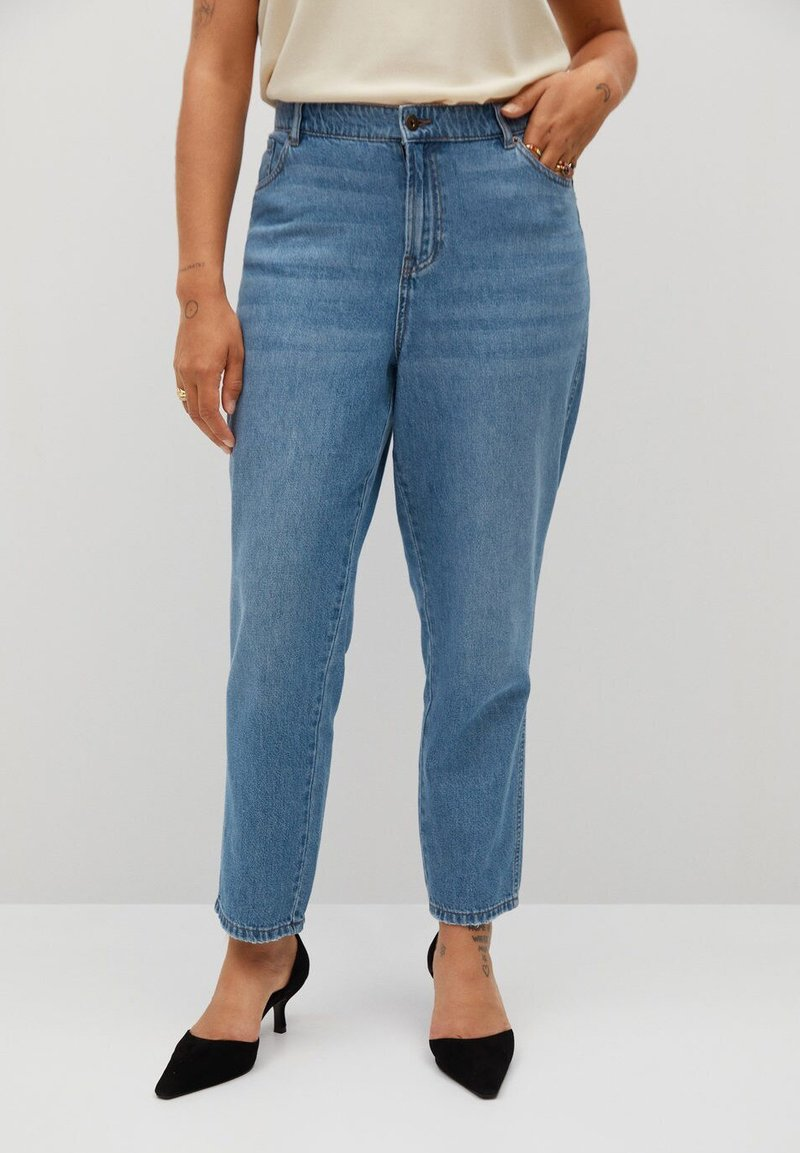 Violeta by Mango - MARINA - Straight leg jeans - mellemblå