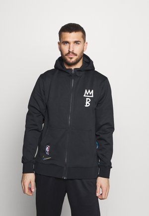 NBA BROOKLYN NETS CITY EDITON THERMAFLEX FULL ZIP JACKET - Club wear - black/black/black/soar