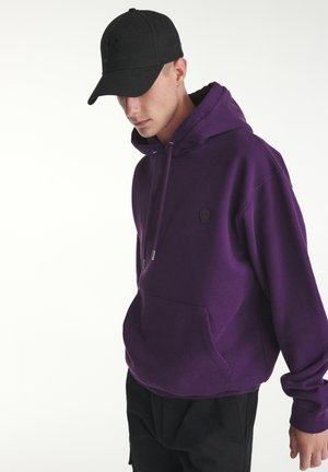 LOGO HAPPY SKULL BRODÉ - Hoodie - purple