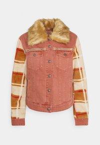 Desigual - CHAQ CHECKIS - Denim jacket - rosa palido - 4
