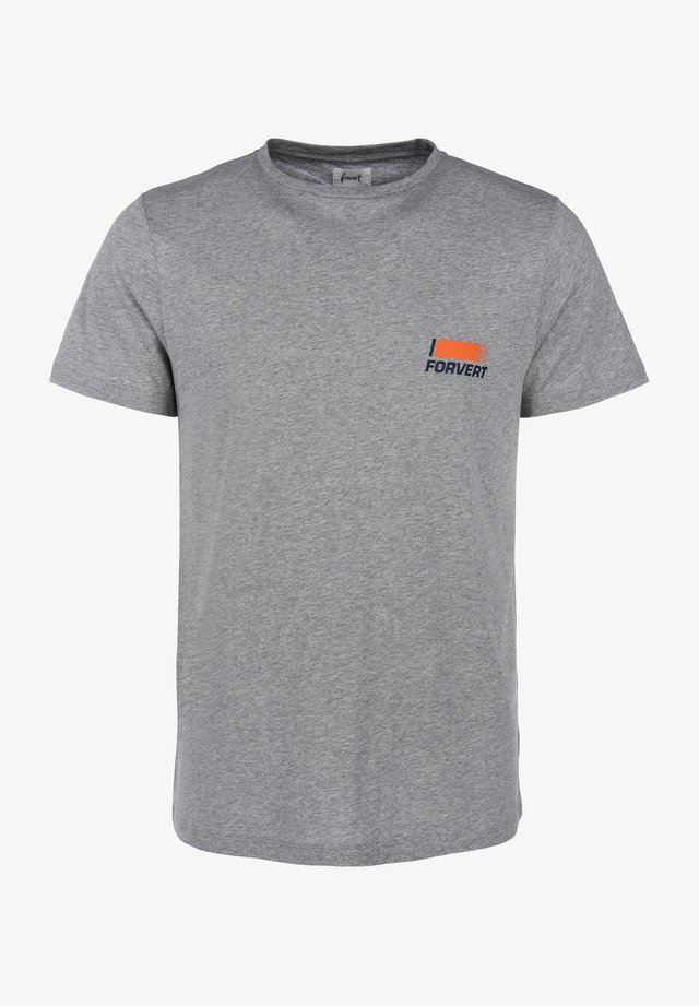 TIMO - Print T-shirt - light grey melange