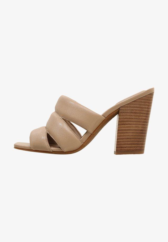 KAGA - Sandalen met hoge hak - light camel