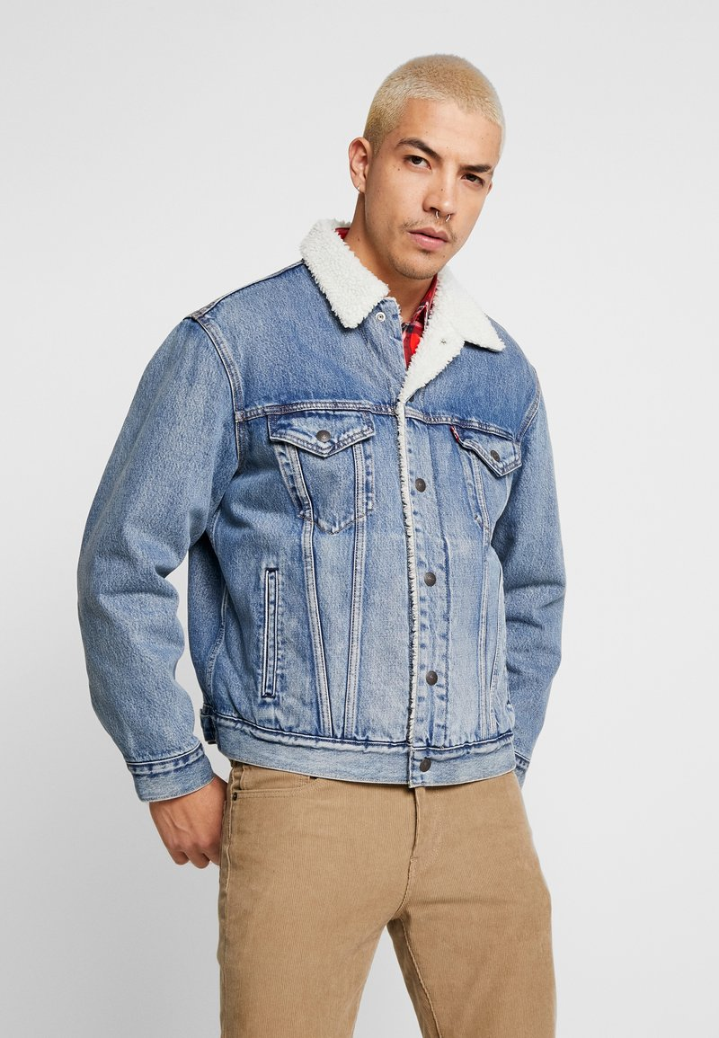 Levi's® - VIRGIL TRUCKER - Džínová bunda - blue denim