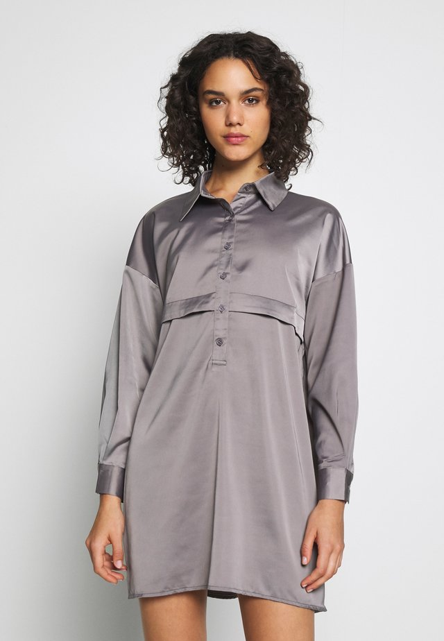 PREMIUM DRESS - Shirt dress - grey