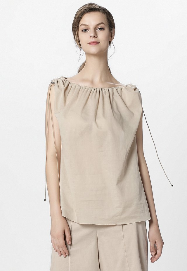 BLOUSE - Blouse - nude