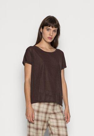 KAY TEE - Basic T-shirt - brown