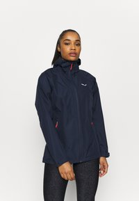 Salewa - AQUA - Hardshell jacket - navy blazer - 0