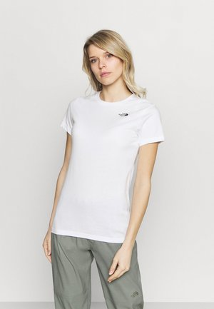 SIMPLE DOME TEE - T-shirts - white