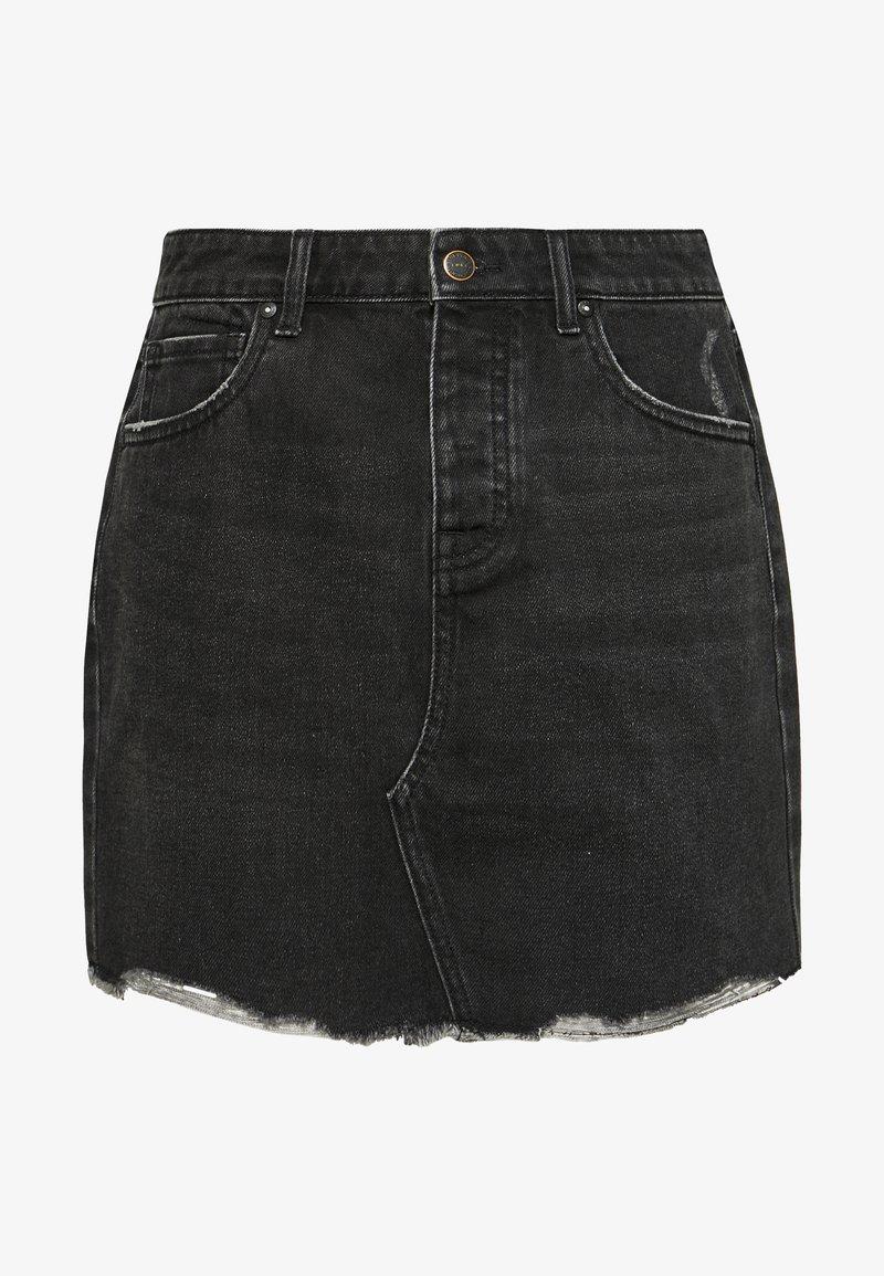 ONLY - ONLSKY - Denim skirt - black