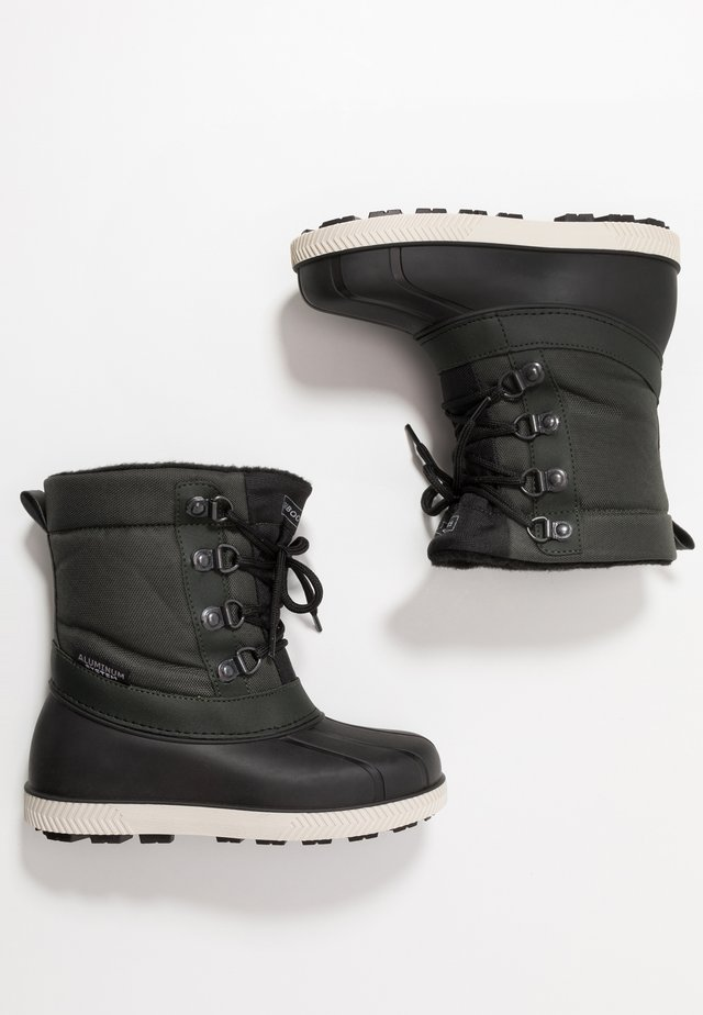 Winter boots - black/green