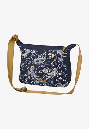Across body bag - midnight blue with print