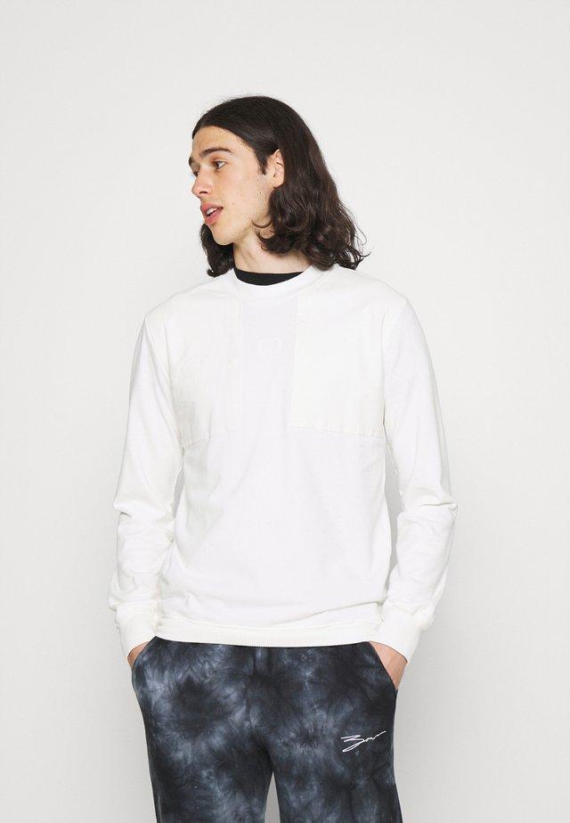 UTILITY PANEL - Maglietta a manica lunga - offwhite