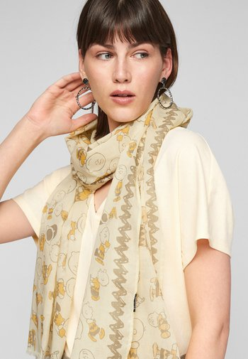 Scarf - yellow aop