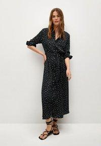 Mango - Shirt dress - zwart - 0