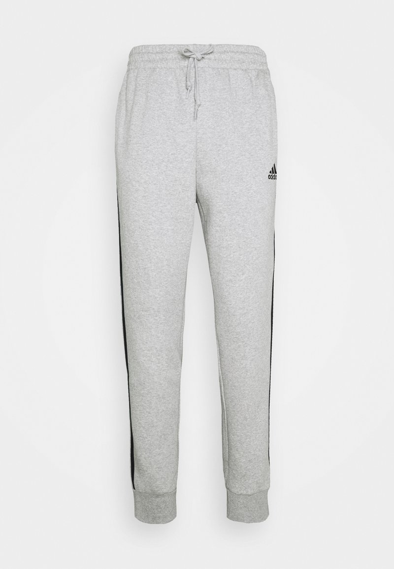 adidas Performance - 3 STRIPES  ESSENTIALS - Pantaloni sportivi - medium grey heather/black