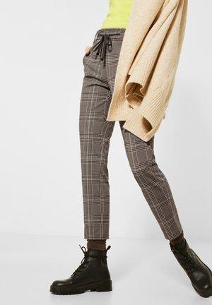 GLENCHECK - Trousers - braun