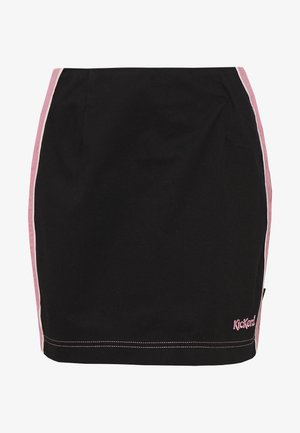 SIDE SEAM PANELLED MINI SKIRT - Miniskjørt - pink/black