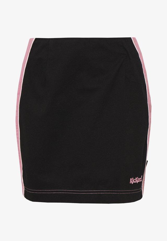 SIDE SEAM PANELLED MINI SKIRT - Spódnica mini - pink/black